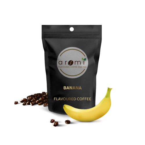 Banana - Flavoured Coffee Beans. Fresh Flavoured Coffee For Sale Online | 100% Arabica Aromatic Coffee!