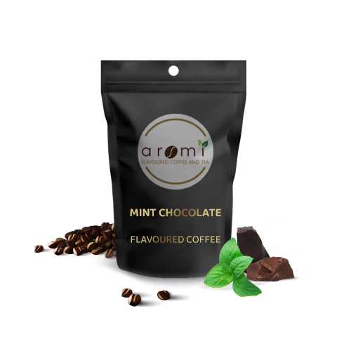Mint Chocolate - Flavoured Coffee Beans. Fresh Flavoured Coffee For Sale Online   100% Arabica Aromatic Coffee!