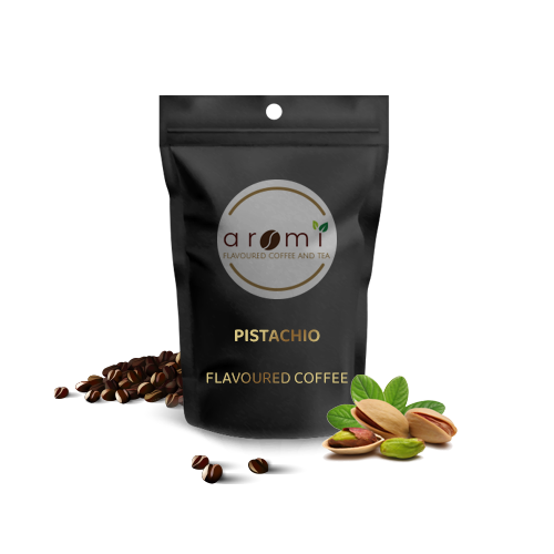 Pistachio - Flavoured Coffee Beans. Fresh Flavoured Coffee For Sale Online   100% Arabica Aromatic Coffee!