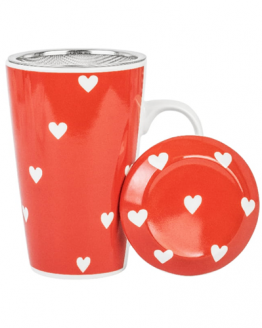 Mug with Infuser - Amore - Heart
