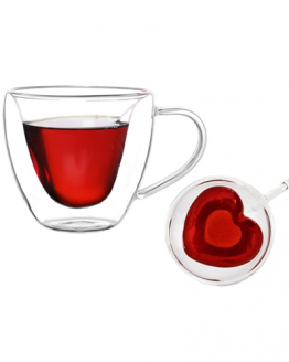 Duali Heart - Set of 2 - Double Walled Thermal Glasses